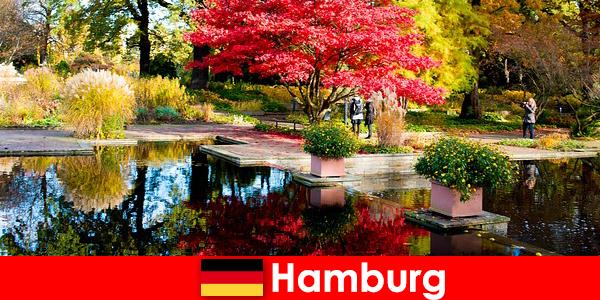 Hambourg, ville portuaire avec de grands parcs pour des vacances reposantes