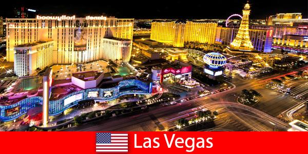 Un paradis du jeu éblouissant à Las Vegas aux États-Unis pour les invités du monde entier