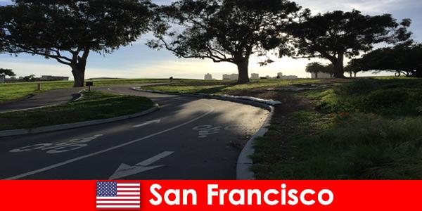 Circuit découverte pour étrangers à vélo à San Francisco États-Unis