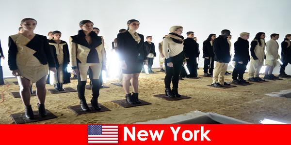 Visite culturelle pour étrangers dans le célèbre quartier des théâtres de New York États-Unis
