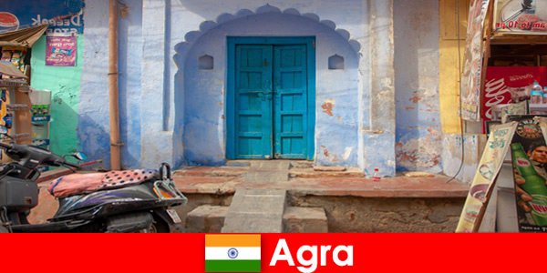 Voyage à l'étranger à Agra en Inde dans la vie de village rural