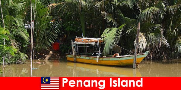 Voyage longue distance pour les randonneurs à travers la jungle de l'île de Penang en Malaisie